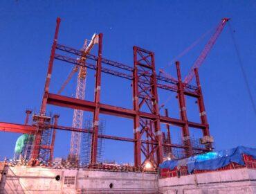 Монтаж металлоконструкций на Курской АЭС